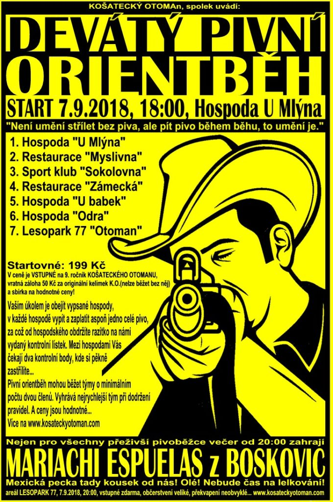 Košatecký otoman 2018 - plakát - pivní běh